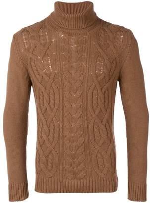Tagliatore roll-neck fitted sweater