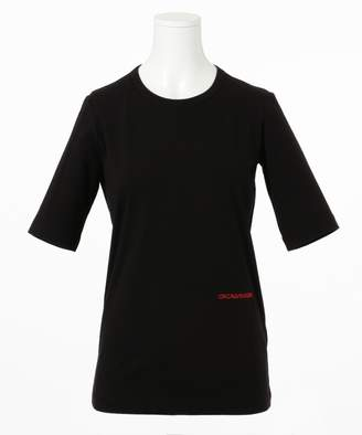 Calvin Klein (カルバン クライン) - CK CALVIN KLEIN WOMEN 【2018AW COLLECTION】コンパクトストレッチジャージー Tシャツ(C)FDB