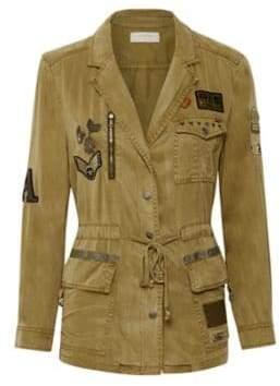 Cream Damaris Patch Jacket