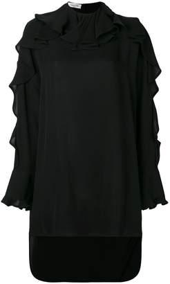 Valentino Ruffle neck cascade sleeve blouse