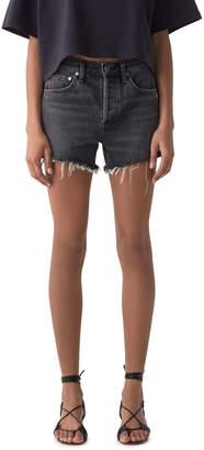A Gold E Agolde Micah Boyfriend Denim Shorts