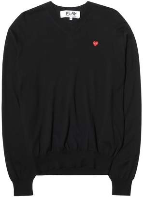 Comme des Garcons PLAY V-NECK COTTON PULLOVER
