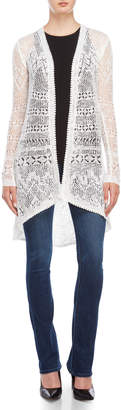 Almost Famous Open Pointelle Knit Cardigan