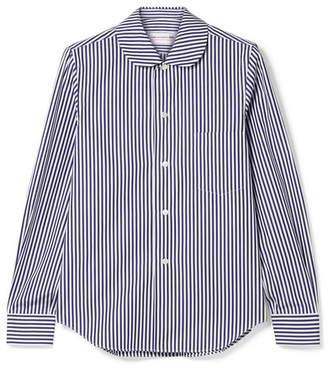 Comme des Garcons Striped Cotton-poplin Shirt - Navy