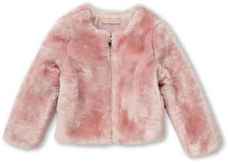 Elsy Toddler Girls) Pink Faux Fur Jacket