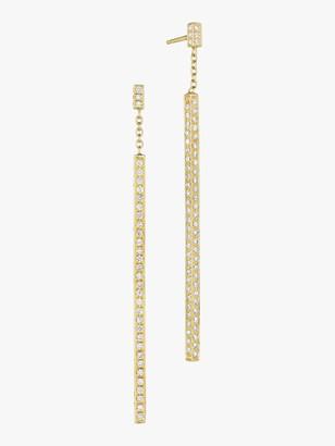 Of A Kind Mimi So Piece Stick Pave Diamond Earrings