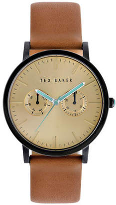 Ted Baker Mens Multifunction Leather Strap Watch 10009249