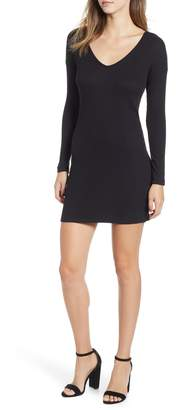 Socialite Twist Back Ribbed Dress