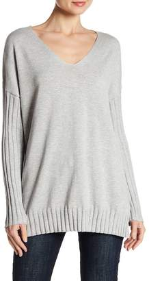 Vince Camuto Ribbed Knit Drop Shoulder Tee