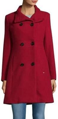Ellen Tracy Double-Breasted Coat
