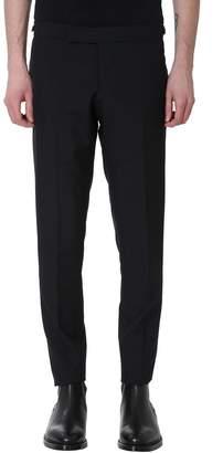 Thom Browne Low Rise Skinny Black Wool Pants