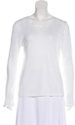 White + Warren Long Sleeve Crew Neck Top