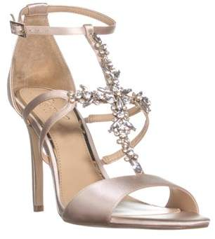 Jewel Badgley Mischka Galvin Strappy Evening Sandals, Champagne