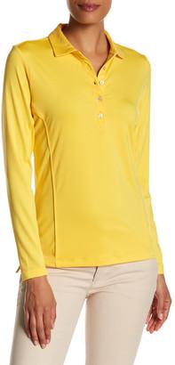 Peter Millar Long Sleeve Sun Comfort Button Polo $79.50 thestylecure.com