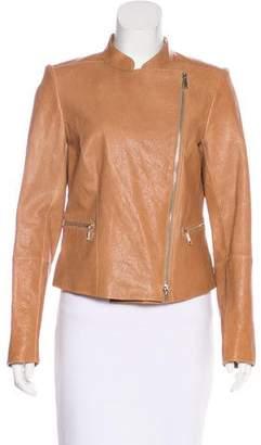 Lafayette 148 Leather Moto Jacket
