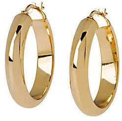 """Veronese 18K Clad 1"""" Wedding Band Hoop Earrings"""