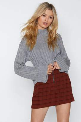 Nasty Gal Let's Turn Up Knit Sweater
