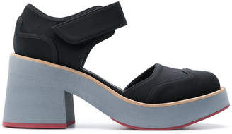 Marni contrast heel pumps