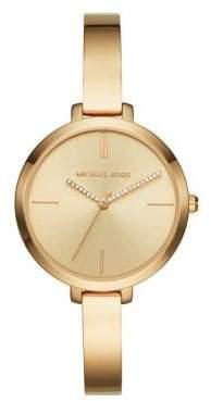 Michael Kors Jaryn Slim Stainless Steel Bracelet Three-Hand Watch