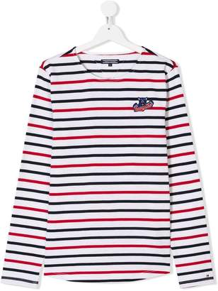 Tommy Hilfiger Junior TEEN long-sleeve striped T-shirt