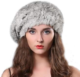 bf62a9c657d at Amazon Canada · FURTALK Women Winter Fur Beret Hat - Rex Rabbit Fur  Knitted Warm Cap Original