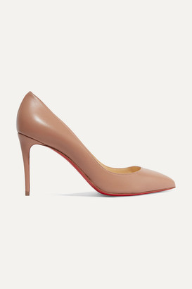 Christian Louboutin Pigalle Follies 85 Leather Pumps - Beige