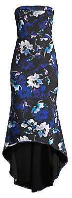 Black Halo Women's Dylan Floral High-Low Midi Dress - Size 0