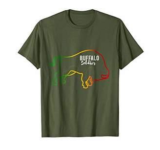 Buffalo David Bitton Soldier New Rasta Reggae Roots Clothing T Shirt Tee