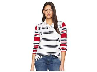 Chaps Rugby Jersey Long Sleeve Knit Women's Clothing