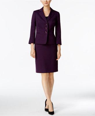 Le Suit 3/4-Sleeve Skirt Suit $200 thestylecure.com
