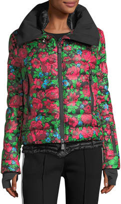 Moncler Vonne Floral-Print Quilted Puffer Jacket