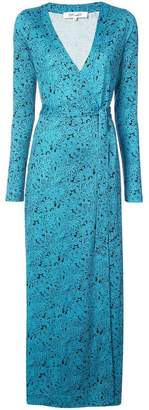 Diane von Furstenberg wrap around long dress