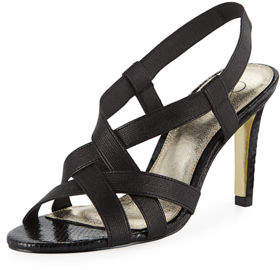 Adrianna Papell Addie Heeled Stretch-Fabric Sandals