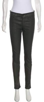 J Brand Lame` Mid-Rise Jeans