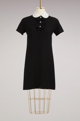 Miu Miu Embroided cady mini dress