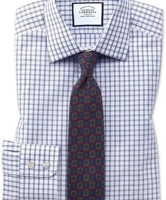 Charles Tyrwhitt Slim fit blue windowpane check shirt