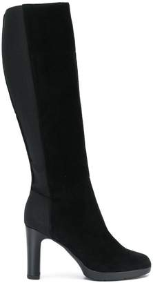 Geox elasticated knee-length boots