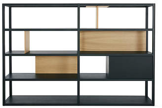 Design Within Reach Treku Kai Wide Shelving, Black Oak at DWR
