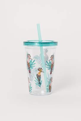 H&M Plastic mug with a straw
