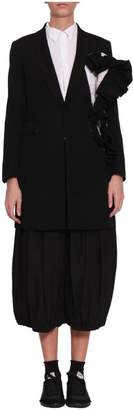 Comme des Garcons Wool Ruffled Coat