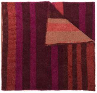 The Elder Statesman Multicoloured Stripe Cashmere Scarf