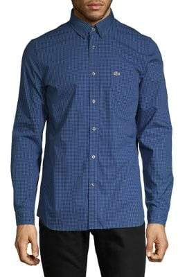Lacoste Regular-Fit Embroidered Button-Down Shirt