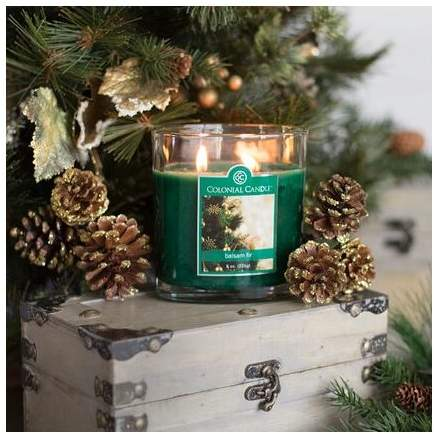 Colonial Candle Balsam Fir Oval Scented Jar Candle