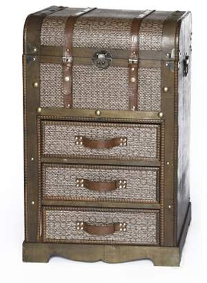Vintiquewise Decorative Wooden Storage Chest with 3 Drawers