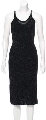John Galliano Textured Metallic Dress