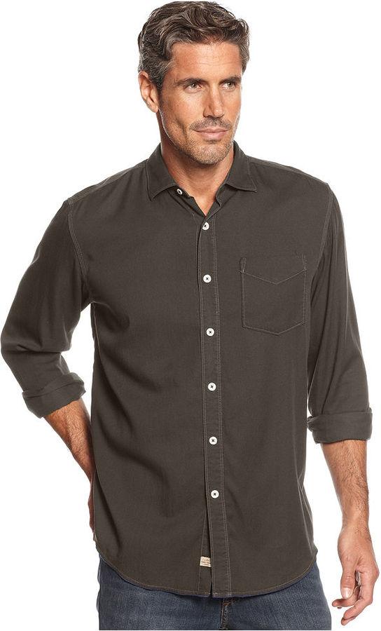 Tommy Bahama Big and Tall Shirt, Long-Sleeve Still Twillin Shirt