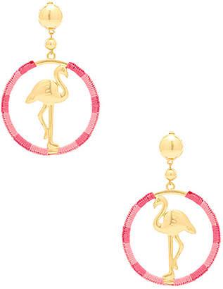 Ettika Flamingo Hoop Earrings