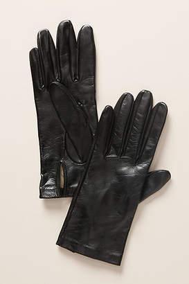 Carolina Amato Leather Silk-Lined Gloves