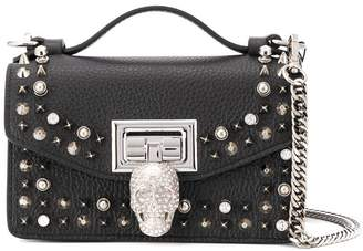 Philipp Plein skull detail studded shoulder bag