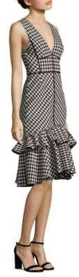 Peserico Gingham Plaid Dress